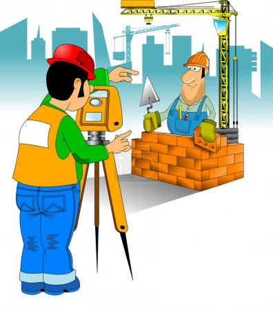 Worker in blue jumpsuit and yellow helmet