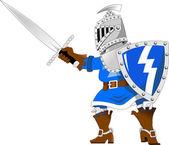 Cartoon knight with sword