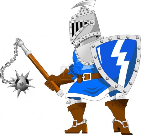 Knight with steel mace