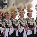ZAGREB, CROATIA, JULY 22: Members of folk group Es...