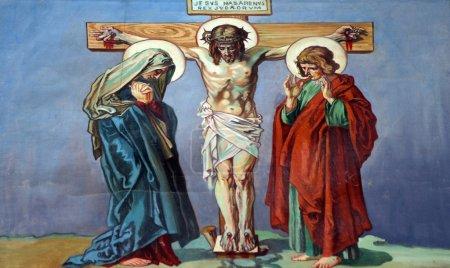 Photo pour 12ème Chemin de Croix, Jésus meurt sur la croix - image libre de droit