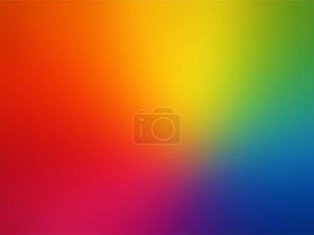 Illustration pour Vecteur - Gradient d'arc-en-ciel gay fond flou - image libre de droit