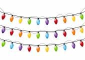 Color Christmas light bulbs