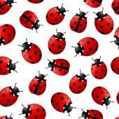 Muster mit roten Marienkäfer