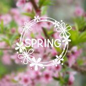 Jarní mřížku pozadí
