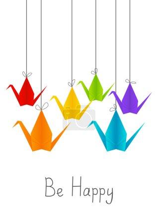 Paper origami cranes for Your design...