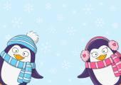 Cute cartoon penguins
