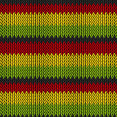 Seamless knitted reggae pattern