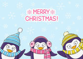 cute Christmas penguins