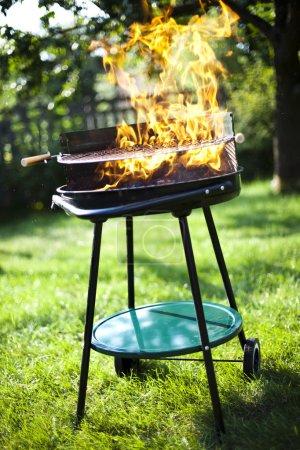 Super flammes sur le gril