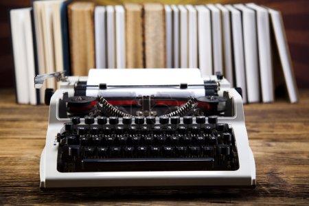Vintage typewriter on the table