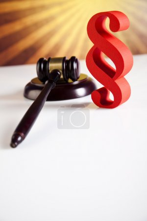 Gavel with Paragraph sign
