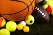 Heap of sports balls