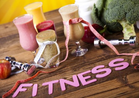 Photo for Milk shakes, sport and fitness - Royalty Free Image