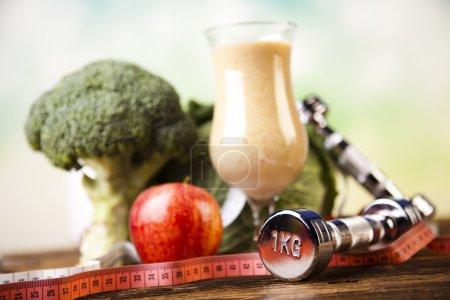 Healthy diet, protein shake