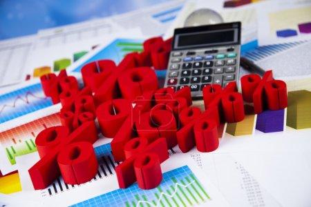 Finance background with percent symbols