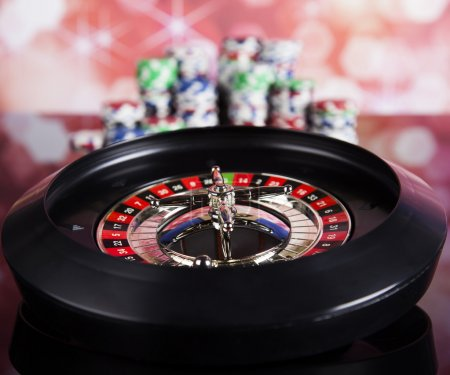 Poker Chips with roulette