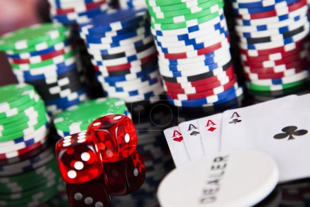 Poker Chips and gaming cards