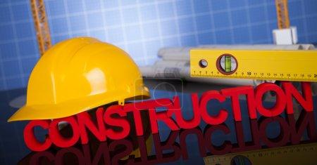 Photo pour Chantier de construction de grues et de concept de construction - image libre de droit