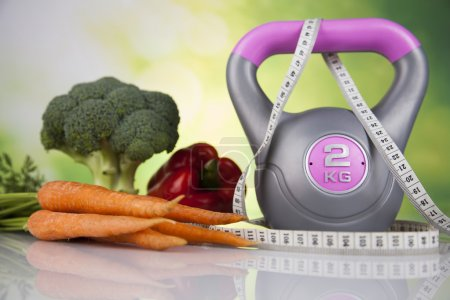 Fitness diet and vitamins concept