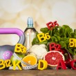 Vitamin concept, Health and fitness concept...