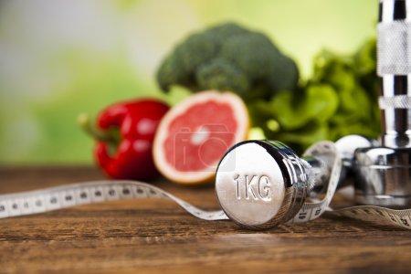Fresh food and measure tape,Sport diet
