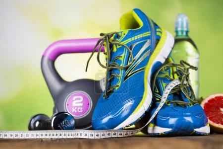 Foto de Concepto de estilo de vida saludable, dieta y acondicionamiento físico - Imagen libre de derechos