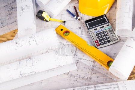 Architectural project, House under construction concept