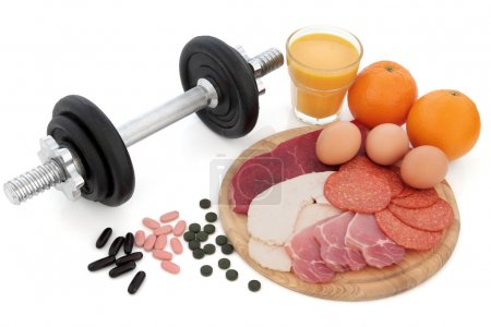 Body Building Equipment and Food
