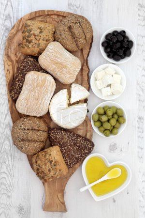 Bread Cheese and Olives