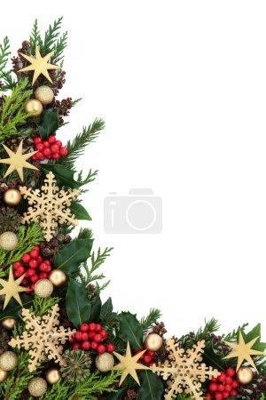 Abstract Christmas Border