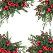 Vánoční ozdobný okraj