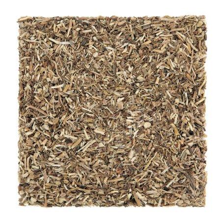 Photo pour Sarsaparilla racine d'herbe utilisée en phytothérapie alternative naturelle sur fond blanc. Utilisé pour guérir les maladies de la peau, y compris le psoriasis. Smilex ornata . - image libre de droit