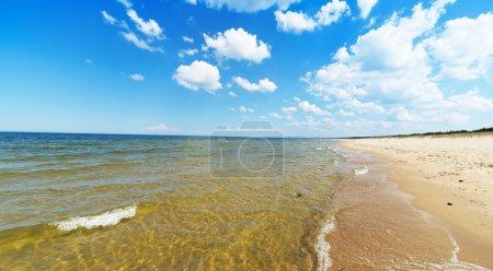 Empty Baltic sea beach