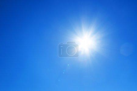 Sun with  blue sky