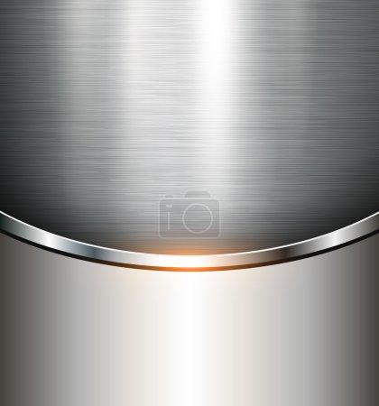 Metallic background polished steel texture, vector...