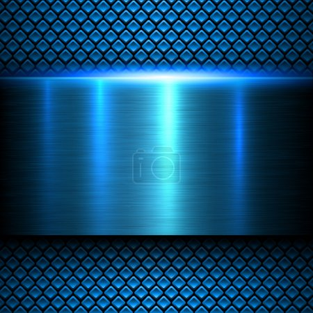 Illustration for Background blue metal texture, vector illustration. - Royalty Free Image