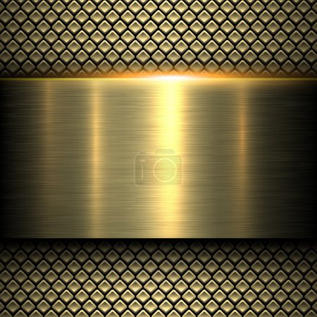 Illustration for Background gold metal texture, vector illustration. - Royalty Free Image