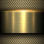 Background gold metal texture, vector illustration...