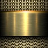 Background gold metal texture vector illustration
