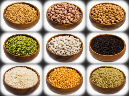 collage of different type of legumes