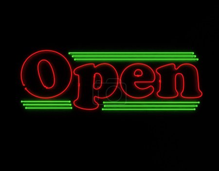 Open Neon sign for restaurant or Club