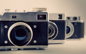 Starý fotoaparát pozadí tónování fotografie 1