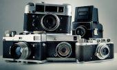 Starý fotoaparát pozadí tónování fotografie 4