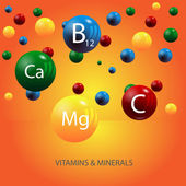 Vitamins and minerals background vector eps 10
