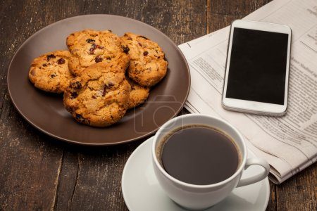 Coffee break with cookies