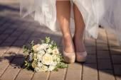 Svatební kytici a boty