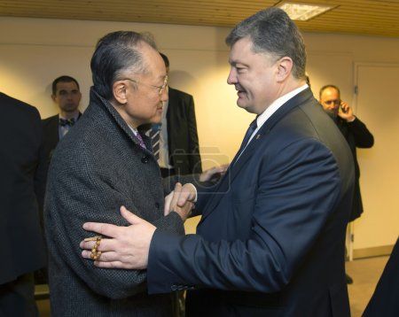 Petro Poroshenko, and Director of the World Bank, Jim Yong