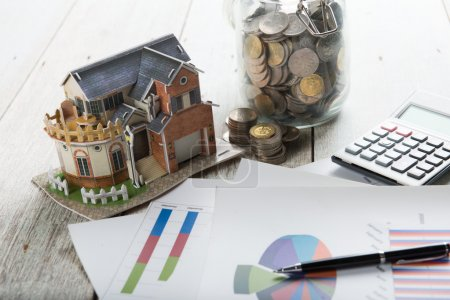 home loan on table