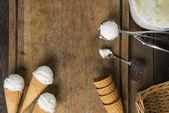 Krémová vanilková zmrzlina